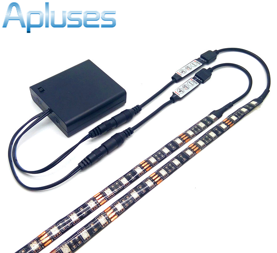 double output ip20 ip65 waterproof battery led strip 5050. Black Bedroom Furniture Sets. Home Design Ideas