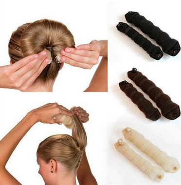 by DHL or EMS 200Sets 2pcs/Set Magic Twist Hair Sponge Hair Styling Donut Bun Maker Magi ...