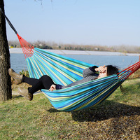 Double 2 Person Canvas Hammock Thickened Outdoor Camping Dedicated Wide Indoor And Outdoor Hammock 280 150cm