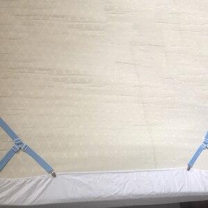 Image 5 - 4Pcs Bettlaken Clips Blatt Bett Gripper Einstellbare Elastische Befestigungs Strap Inhaber Bettwäsche Clips für Bettwäsche Matratze Verschluss