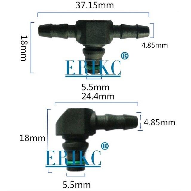 ERIKC Refluxo T e L Tipo de Óleo de Retorno para a Série Bosch 110 Diesel CR Injetor De Combustível Peças 3 Plástico Dois -modo Comum Tubo 10 pçs/saco