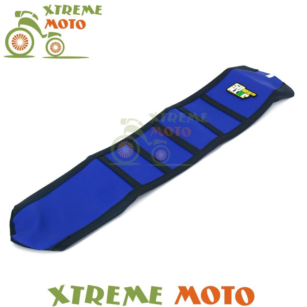 Голубой резиновый винил мотоцикл захваты мягкие сиденья Крышка для Husqvarna те txc по ФК 250 310 2009 2010 2011 2012 2013