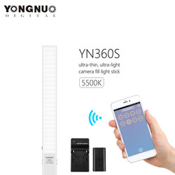 YONGNUO YN360S Handheld Ice Stick LED Video Light 5500K Studio Photography Lamp Phone App Control For Photo With F550 Battery