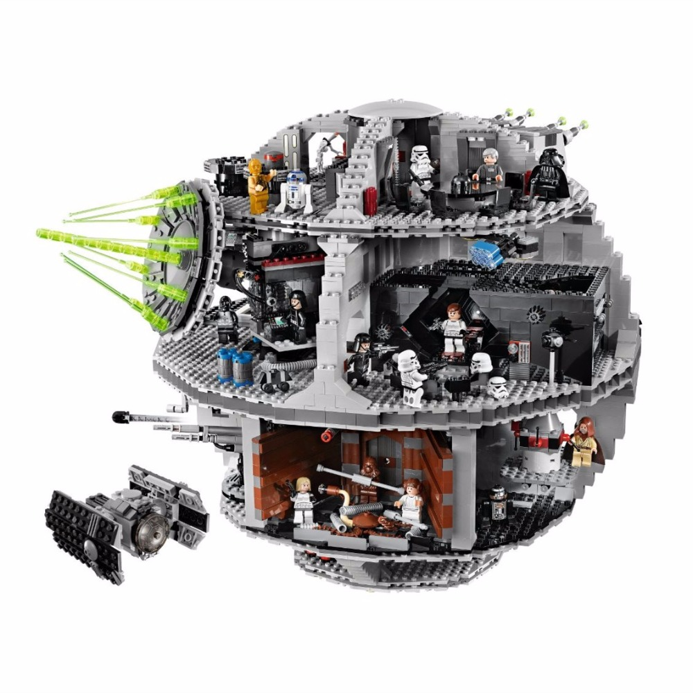 Star Space Wars Death Star STARWARS Model Building Blocks Kits Toys For Children Compatible brick toy for kids lepin 05035 star wars death star limited edition model building kit millenniums blocks puzzle compatible legoed 75159