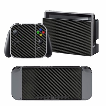 Carbon Fiber Sticker Vinly Skin Sticker Cover Protective for Nintendo Nintend Switch NS Console Protector Cover Decal Vinyl Skin
