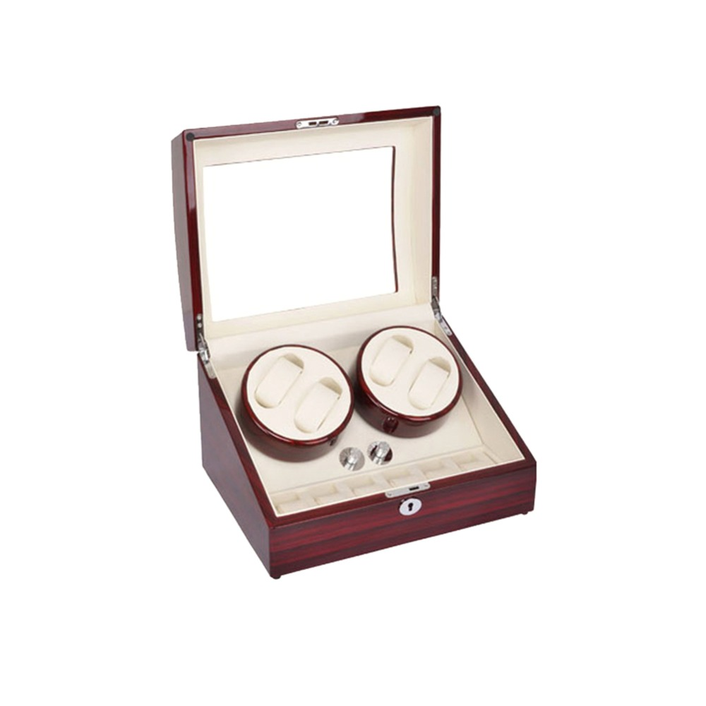 Watch Winder, LT Wooden Automatic Rotation 4 + 6 Watch Winder Storage - Tilbehør klokker - Bilde 2
