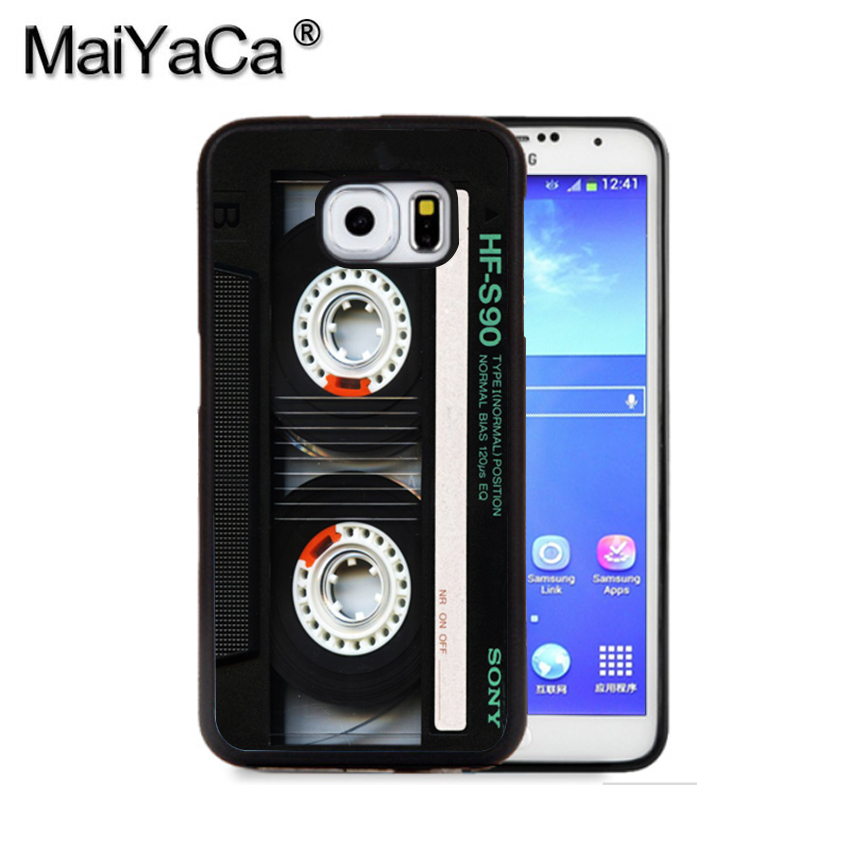 MaiYaCa Classic Retro Cassette Tape Phone Case For Samsung S9 S8 Plus S7 S6 Edge Plus Note 8 7 5 S5 S4 Print Rubber Cases