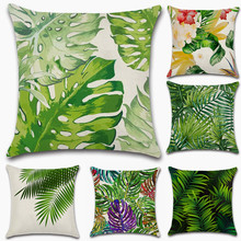 Nordic style Tropical plants Palm Tree leaf Cushion Cover Decoration for home Sofa chair Pillow friend kids bedroom gift