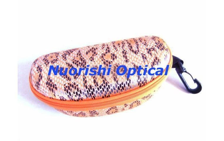 10 шт. большие размеры красивые 5 цветов Змеиный узор на молнии очки для очков Солнцезащитные очки EVA чехол коробка ML021