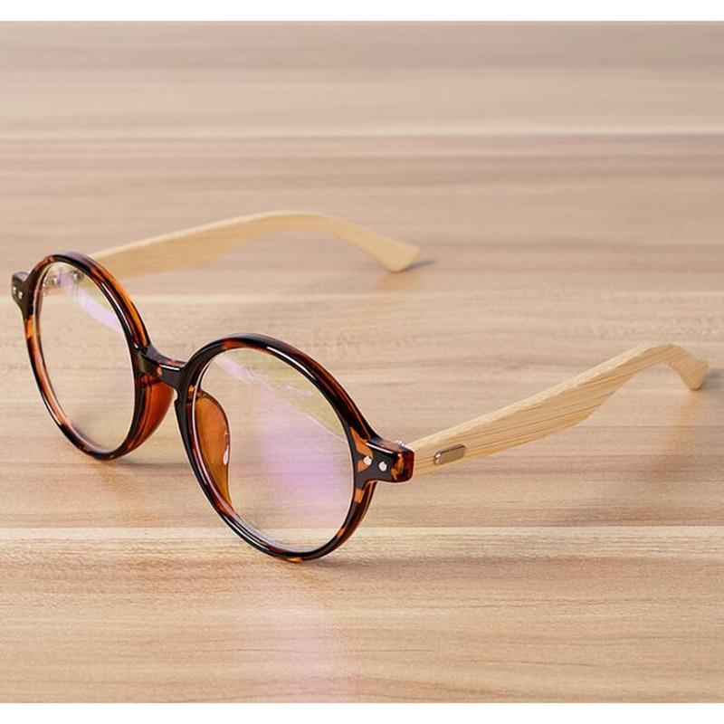 Handgemachte Bambus Vintage Klare Linse Runde Brille Rahmen Frauen ...