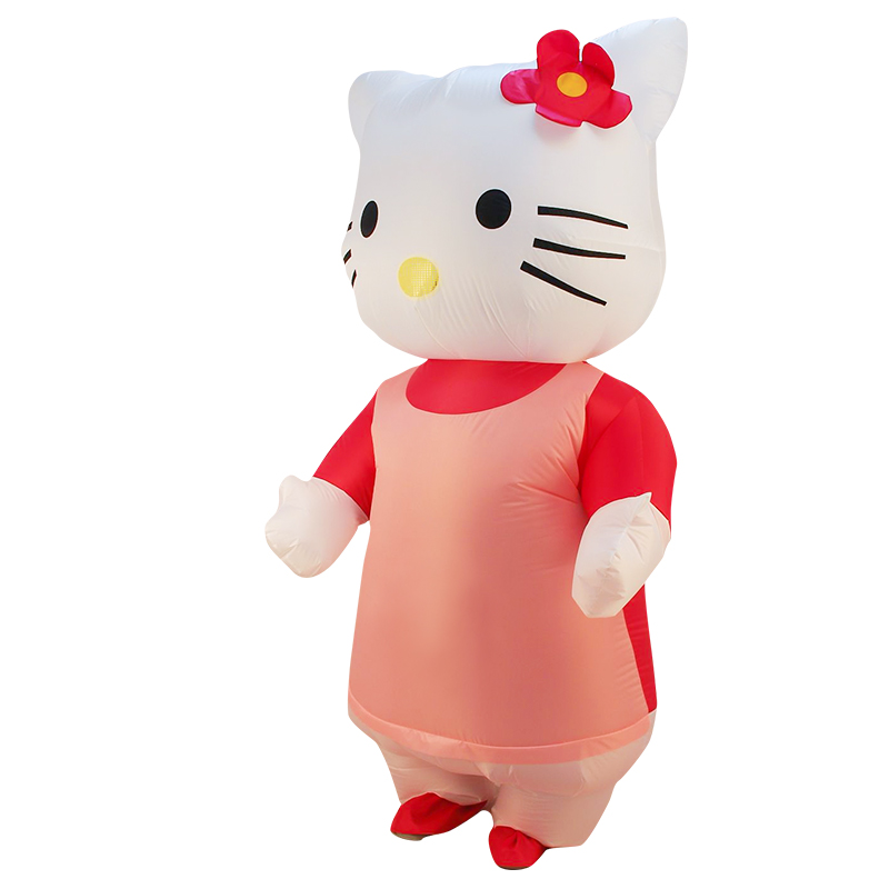 Hello Kitty Inflatable Costume Women men Adult Kitty Fancy Dress Halloween Party Cosplay Blowup Purim Carnaval Costumes women