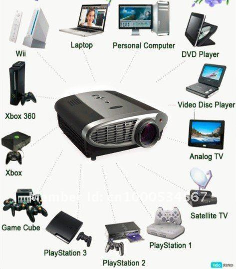 Hot selling data show projector,led 3D projector,free shipping!! Free 8GB Disk