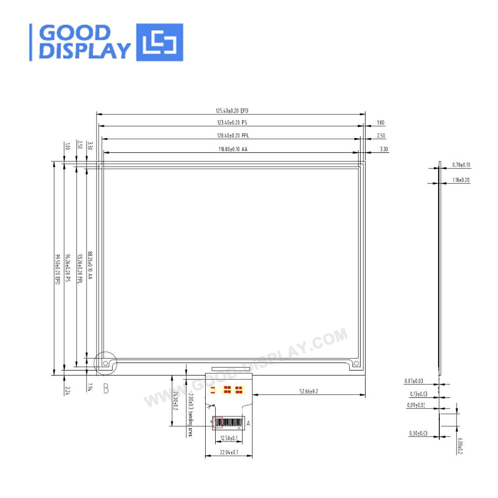 Hot Sale] 5 83 inch e paper display panel EPD display-in Industrial