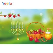 Yeele Jewish New Year Party Candlestick Honey Photocall Studio Photography Backdrops Photo Backdrop Background For shoots