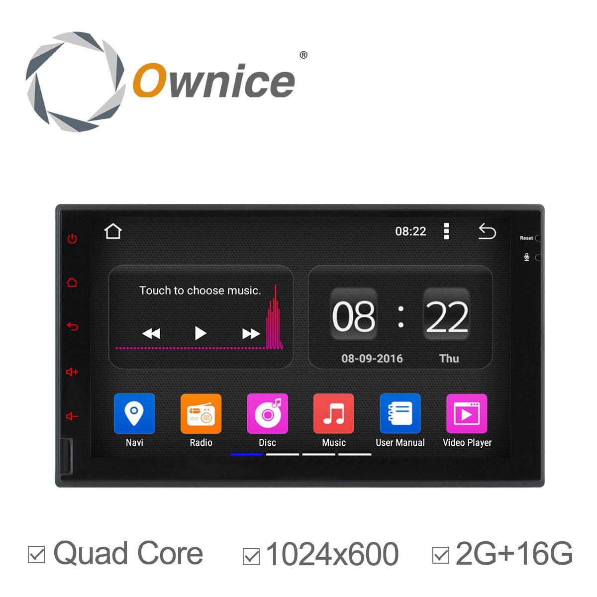imágenes para Ownice C180 2 din Android 5.1 de Cuatro Núcleos de Radio de Coche Universal DVD GPS Navi Bluetooth de la Ayuda 3G DVR Digital TV 2G/16G no dvd