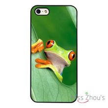 Forest Frog Nature protective back skins mobile cellphone cases cover for iphone 4 4s 5 5s
