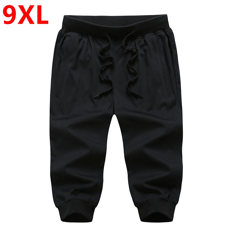 Men fertilizer increased leisure paragraph 7 minutes Casual Shorts large size thin foot trousers fat people shorts 9XL 8XL