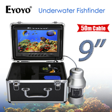 Eyoyo 9Inch DVR 360 Degree Rotating Video Camera Fishing 18pcs Infrared Lamps Fish Finder Night Vision Ice