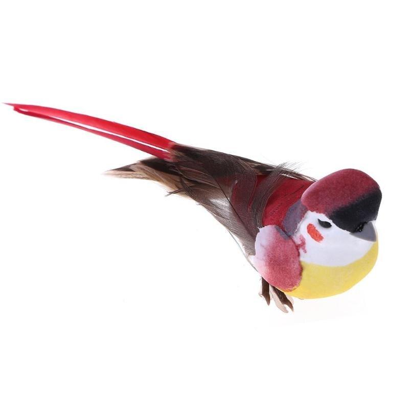 12pcs DIY Artificial Bird Feather Foam Cute Simulation Bird Sparrow Home Decor Table Bookshell Ornament Mini Craft Birds in Figurines Miniatures from Home Garden