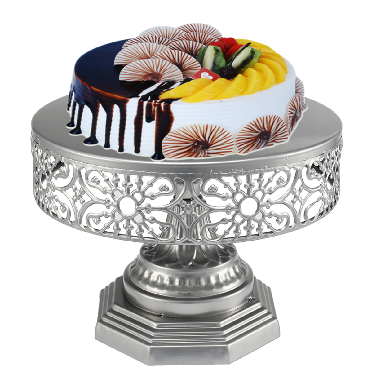 25cm Inch Gold Mirror Surface Wedding Dessert Tray Cake