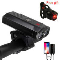 Onature USB Rechargeable bike light front Headlight Built-In 5200mAh Waterproof LED Cycle Light 1000 lumens Bike Accessories