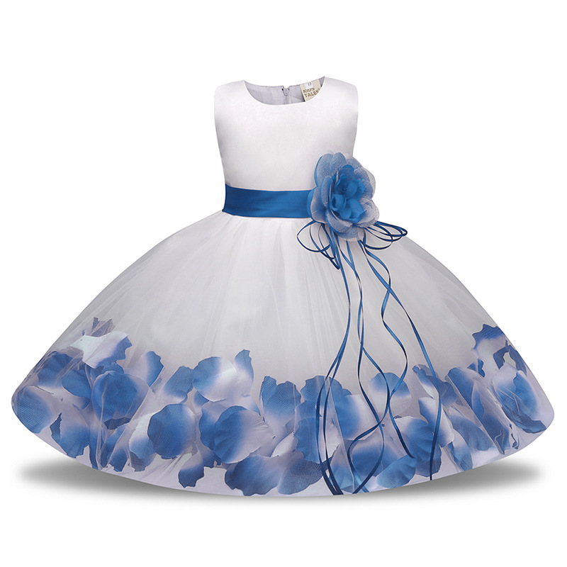 Kids Infant Girl Flower Petals Dress Children Bridesmaid Toddler Elegant Dress Pageant Vestido Infantil Tulle Formal Party Dress kids infant girl flower petals dress children bridesmaid toddler elegant dress vestido infantil formal party dress baby clothing