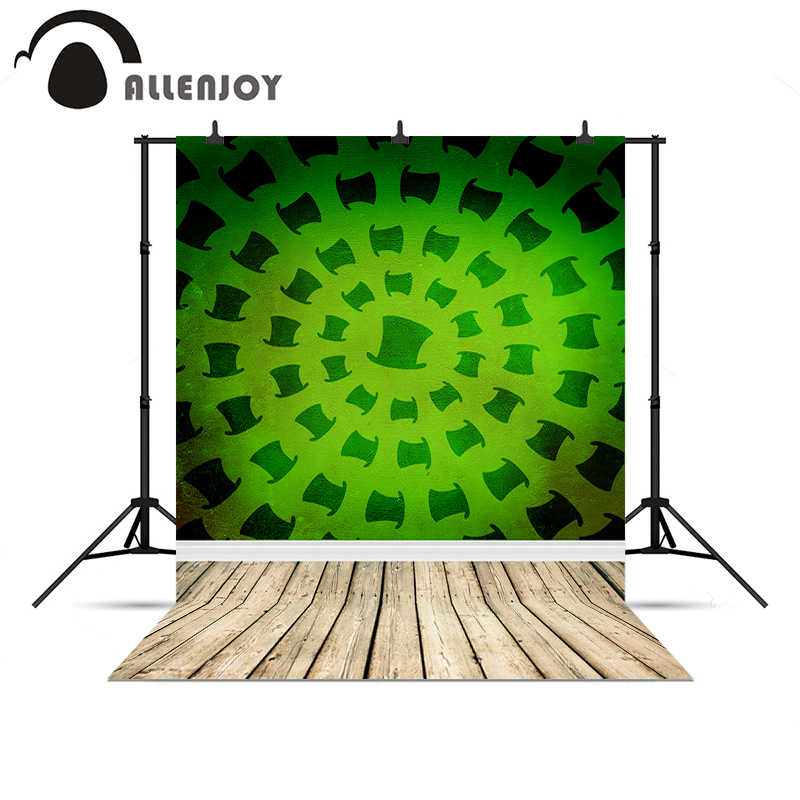 Allenjoy photography backdrops Green hat magic wood floor background for photo shoots Photophone christmas backgrounds utusemi and poetry the ancient ink picture painting books