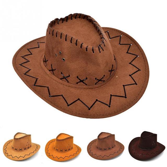 854ca8926 chapeu Cowgirl Hats kids Fashion Cowboy Hat children sombrero vaquero  disfraz leather Costume klappertjes pistool Cowboy Hats