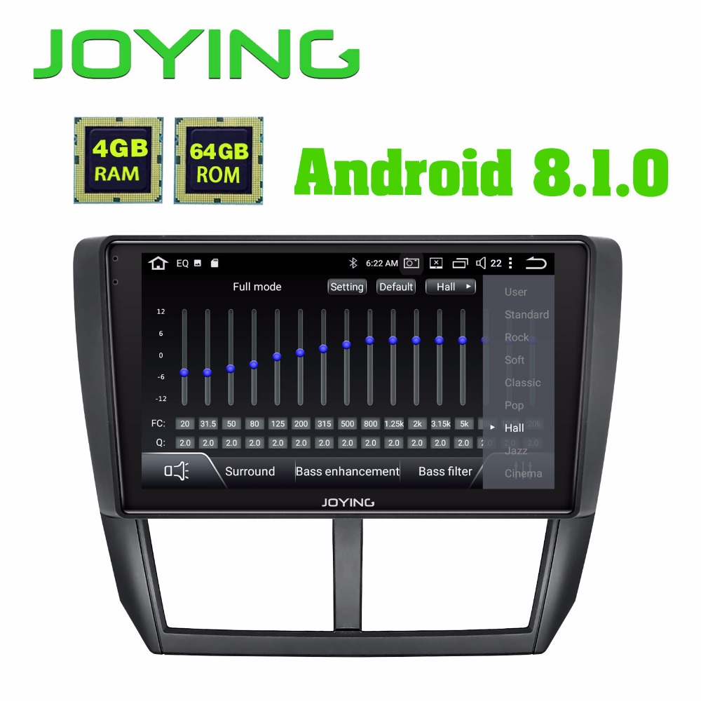 JOYING 2 din Android 8 1 car radio player for Subaru Forester 2008 2012 built in