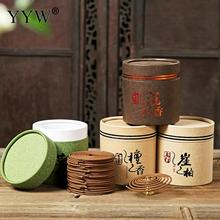 48pcs/Box Coil Sandalwood Incense 4 Hour Burning Aroma Smoke Home Scent Diffuser Aromatherapy Oud Perfume
