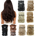 Hairpiece Synthetic Hair Extensions Long Wavy Curly Hair Extension Heat Resistant 1/pc 5 Clips in Hair Extention De Pelo Natural
