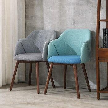 送料無料U-BEST北欧デザインアームオーク木製で座席クッションファブリックダイニングチェア