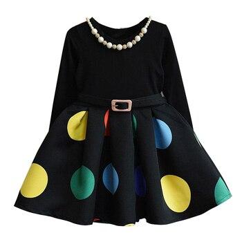 Vestido De Invierno Para Niñas Vestidos De Princesa Elsa Vestido Infantil 2018 Caliente Europa Niños De Manga Larga Punto Tela De Navidad