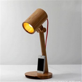 Новинка DIY деревянные настольная лампа отель барная стойка освещение home decor настольная лампа спальня стол из цельного дерева освещение DY-1468