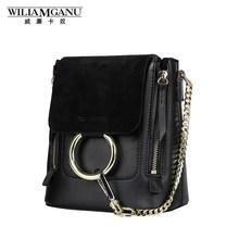 Wiliamganu Новинка 2017 года реальные натуральная кожа женские рюкзаки школьные сумки для подростков Модные женские рюкзак мини сумки 0850
