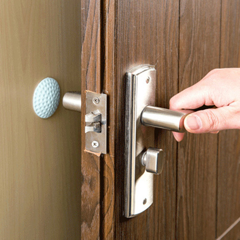1/2/5/10 Pcs Wall Thickening Mute Golf Modeling Rubber Mudguard The Handle Door Lock Protective Pad Wall Door Knob Mats Door Stickers     - title=