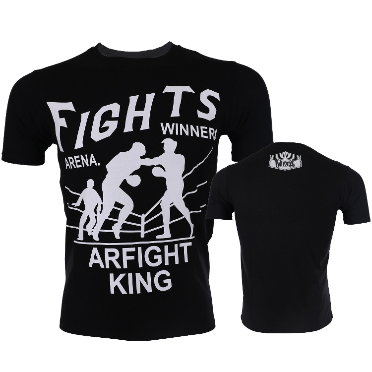 MMA Fighting Boxing Gym  Short Sleeve T-shirt Bodybuilding Stretch Muscle Sports Dog Brothers Play Fight Boxing Male Fashion