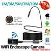 8LED 10M Hard Flexible Snake USB WIFI Endoscope Camera HD720P 8mm OD 2MP Iphone Endoscope Pipe