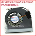 Free Shipping PAAD06015SL Laptop Fan DC5V 0.55A For MSI GE60 2PE-448XCN 2PE-449XCN Laptop CPU Cooling Fan