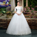 Real PhotoTulle Applique Lace Beaded Ball Gown Boat Neck Camo Wedding Dresses 2016 Vestidos De Novia Lace -Up Floor Length