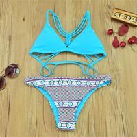 Sexy Swimwear Bikini Set 2017 New Summer Style Beach Bathing Suit Push Up Swimsuit Ladies Brazilian