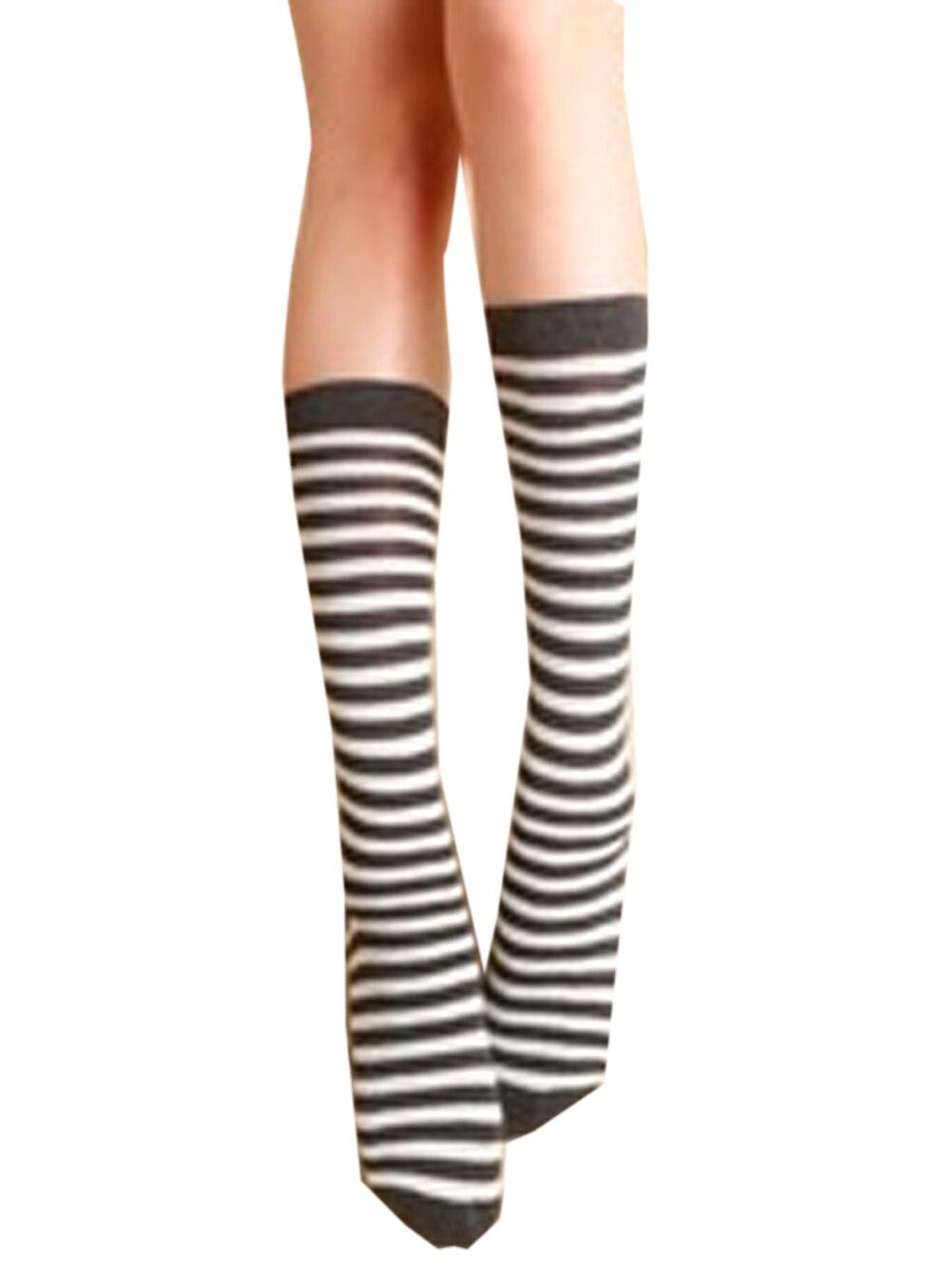 ᗕ3 color muslo largo Calcetines de la caída 2016 para las señoras ...