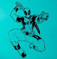 Deadpool fighting parete di arte del vinile comics super hero vinyl sticker interni smontabile home decor camera dei bambini