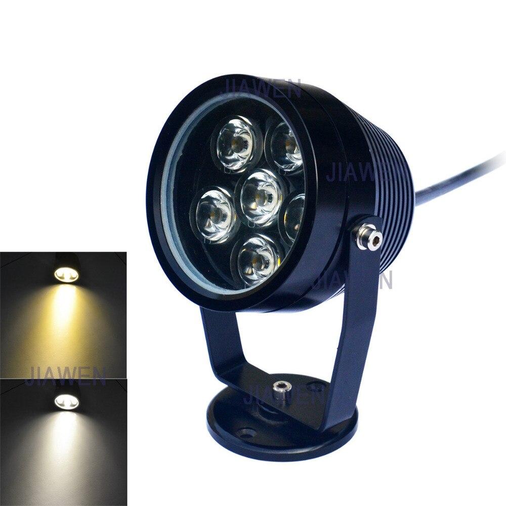 ФОТО  6W 6-LED Underwater Light Spotlight Lamp White/Warm White Light  480lm - Black (DC 12V)