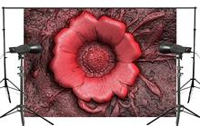 150x220cm Exquisite Flowers in full Bloom Background Abstract Dark Red Backdrops Art Photo Studio Backdrop