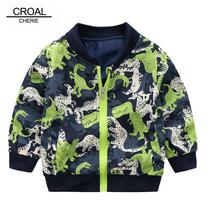 CROAL CHERIE kurtka wiosenna dla dzieci dziewczyny chłopcy śliczne dinozaury dla dzieci odzież dla niemowląt chłopcy długi płaszcz z rękawami codzienna odzież wierzchnia tanie tanio Na co dzień Poliester Cartoon REGULAR MANDARIN COLLAR Kurtki płaszcze Pełna Pasuje prawda na wymiar weź swój normalny rozmiar