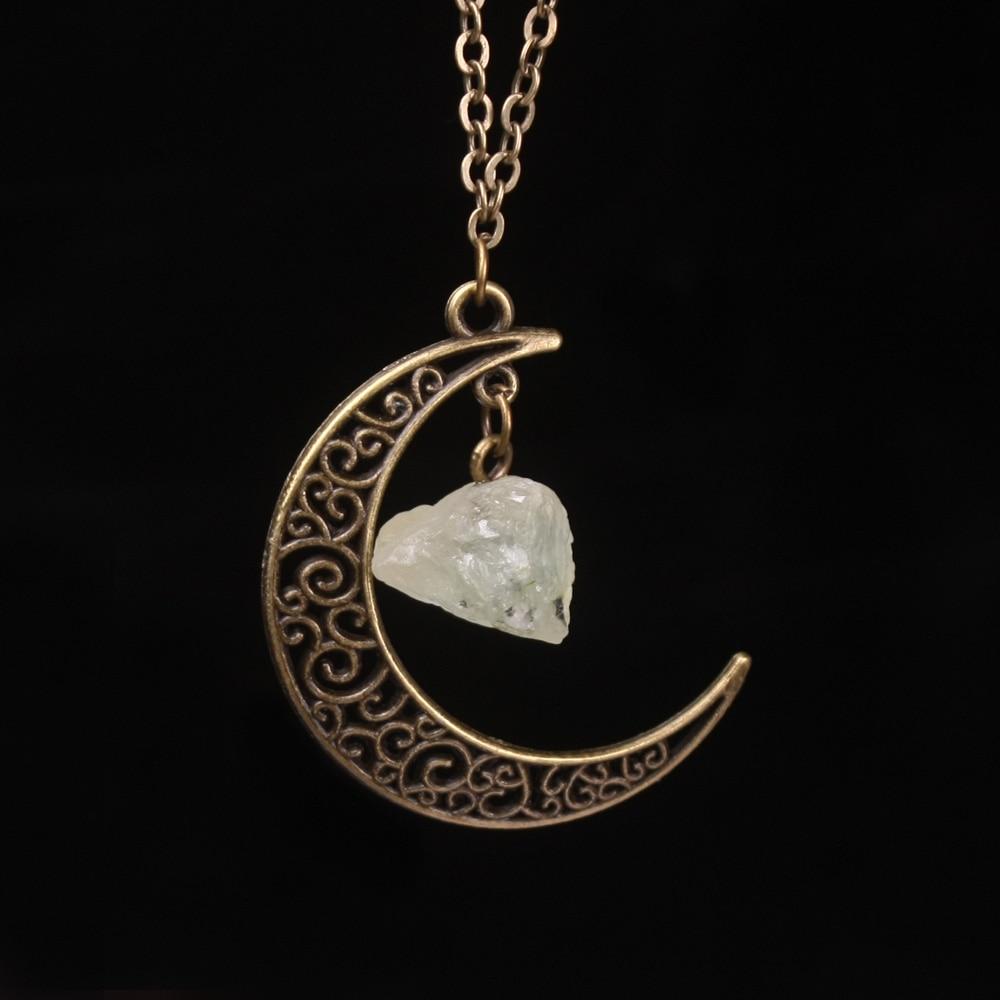Vintage Galaxy Moon Kristal Aypara Bənövşəyi Qədim Tunc - Moda zərgərlik - Fotoqrafiya 3