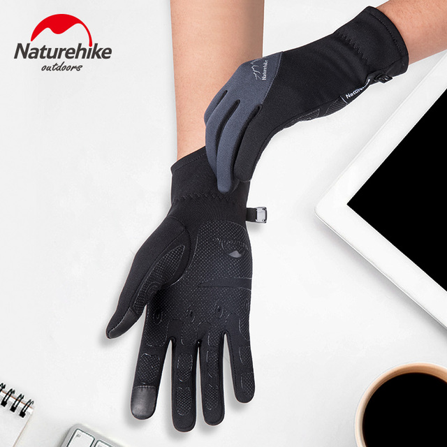 Naturehike Outdoor Sports Hiking Skiing Winter Cycling Gloves For Men Women Simulated Leather Soft Warm Gloves