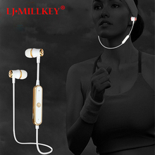 S6 Wireless Sports Bluetooth Earphone Sweatproof Stereo Bluetooth Headset Earbud Noise Cancelltion for Gym Work LJ-MILLKEY LZ001