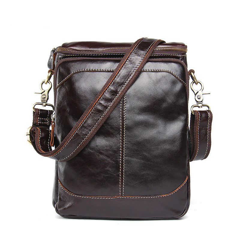 Mens Genuine Leather Fashion Shoulder Bag Solid Color Casual Crossbody Bag First Layer Cowhide Mens Bag Temperament Square BagMens Genuine Leather Fashion Shoulder Bag Solid Color Casual Crossbody Bag First Layer Cowhide Mens Bag Temperament Square Bag